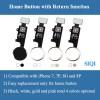 Fonction de retour du bouton Accueil, touchez l'identification de l'iPhone 7, touche de retour iPhone 8, bouton d'accueil de l'iPhone 7, bouton 2019, bouton d'accueil de l'8 pour iPhone