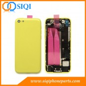 reemplazo para el ensamblaje de la tapa trasera amarilla, reparación para el iphone 5c tapa trasera amarilla, carcasa trasera para el iphone 5C, ensamblaje de la tapa trasera móvil