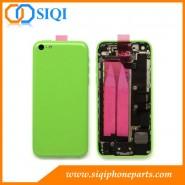vert ensemble de boîtier arrière, couvercle arrière vert pour iPhone 5C, couvrent l'iphone 5c, 5c iphone remplacement retour, le remplacement pour iPhone 5C couverture arrière