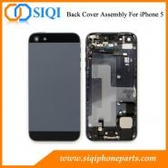 iphone 5フルハウジング用、バックハウジングアセンブリ、バックカバー用交換部品、iphone 5ハウジング交換用、リアカバー用部品