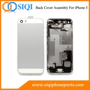 rear housing assembly for iphone 5, replacement for rear housing, rear case iPhone 5, white rear cover replacement, china supplier back cover