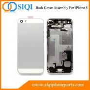 assemblage de boîtier arrière pour l'iphone 5, remplacement de boîtier arrière, cas de l'iPhone 5 arrière, blanc remplacement du capot arrière, le fournisseur de porcelaine couverture arrière