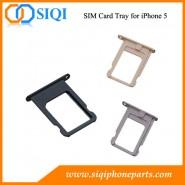 Bandeja de la tarjeta SIM iPhone 5, SIM al por mayor de bandeja de la tarjeta SIM de reparación de la bandeja de la tarjeta SIM de reemplazo bandeja de la tarjeta, sustituya iphone bandeja de la tarje