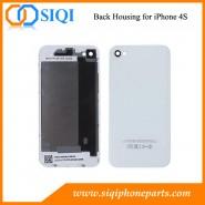 Cubierta trasera para iPhone, la reparación de la contraportada para el iPhone 4S, reemplazo para el iPhone 4S contraportada, iPhone 4S Volver vivienda, Vivienda trasera para iPhone