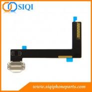 ipad aéreo barato 2 de carga de la flexión, protector para el mayor conector de carga, la carga del iPad de reemplazo conector, reparación para ipad Aire carga flex, blanco de carga aérea ipad flex