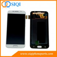 Reemplazo de LCD Samsung S6, S6 pantalla de la galaxia, la pantalla blanca para Samsung S6, S6 LCD para, reparación de la pantalla Samsung S6