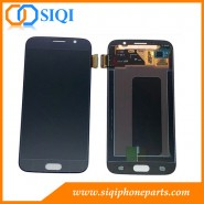 サムスンS6、サムスンS6スクリーン、ギャラクシーS6スクリーン、サムスンスクリーン交換、S6 LCDディスプレイの修理のための黒いLCD