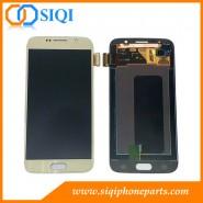 Pour écran Samsung S6, S6 Galaxy remplacement LCD, écran Samsung Chine, Samsung LCD de gros, l'écran Samsung Or