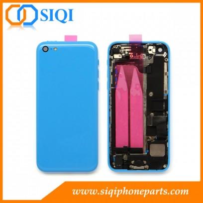 الإسكان الخلفي لفون 5C ، واستبدال الغطاء لفون 5C ، الغطاء الخلفي فون 5C ، الغطاء الخلفي مع أجزاء صغيرة ، الغطاء الخلفي الأزرق لفون