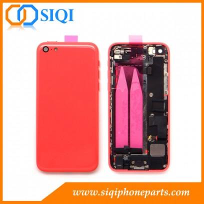 Rose Couverture arrière pour iPhone 5C, iphone 5C boîtier arrière, l'ensemble de logements pour iPhone 5C, couvercle arrière ensemble iphone 5C, housses pour iphone