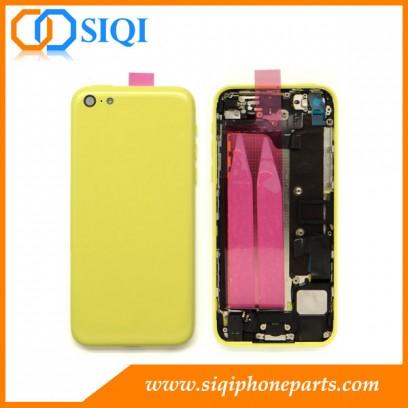 黄色のバックカバーアセンブリ、iPhone 5cのイエローバックカバー、iPhoneの5Cのバック住宅、モバイルバックカバーアセンブリのための修理のための交換