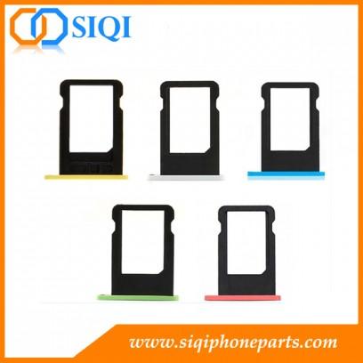 Bandeja de la tarjeta SIM para el iphone, iphone ranura de la tarjeta SIM 5C, la sustitución de la bandeja de la tarjeta SIM iphone 5C, sim bandeja de la tarjeta iphone 5C, piezas de repuesto para ban