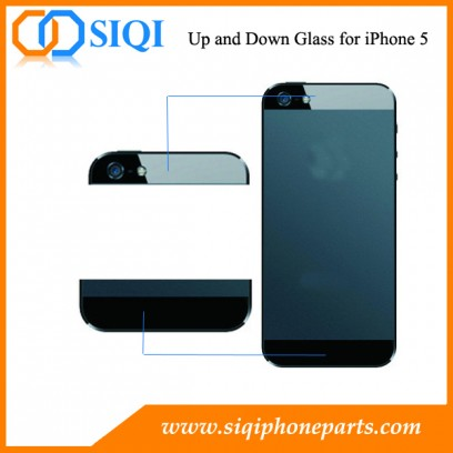 Remplacement de verre de haut en bas, pièces de rechange pour le verre de haut en bas, verre de remplacement pour iphone, réparation de verre d'iphone, verre de téléphone portable à remplacer