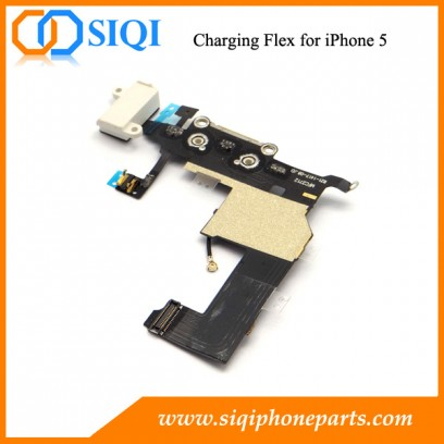 Dock de chargement pour Apple iPhone 5s, connecteur de dock flex pour iphone, câble de câble audio pour casque, port de chargement pour iPhone, connecteur de chargement pour iPhone