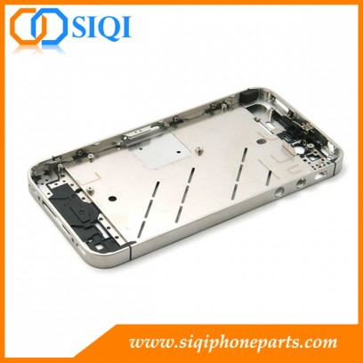 For iPhone 4S middle frame replacement, replace iPhone 4S middle frame, metal middle cover plate iPhone, middle cover for iPhone 4S, middle frame wholesale