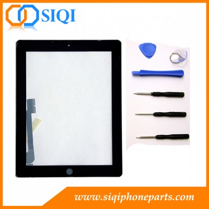مجموعة اللمس iPad 4 ، مجموعة التحويل الرقمي لباد 4 ، مجموعة شاشة اللمس من Apple iPad ، استبدال مجموعة محول الأرقام ، إصلاح شاشة اللمس من iPad