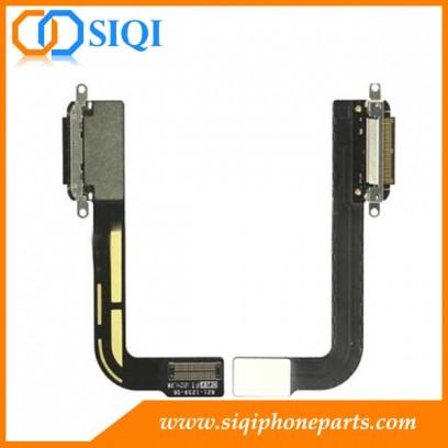 Connecteur de charge pour iPad 3, quai de chargement flex iPad, iPad charge la réparation du port, port de charge remplacer ipad, apple port de charge