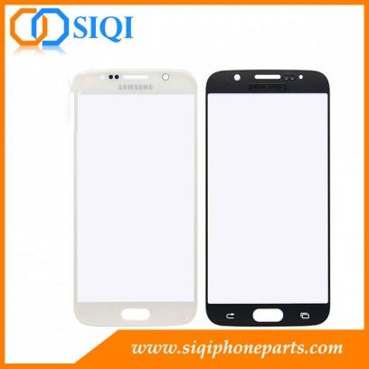 Vitre frontale pour Samsung S6, verre blanc en remplacement du Galaxy S6, lentille en verre pour vente en gros Samsung, réparation du verre Samsung Galaxy S6, remplacement du verre Galaxy S6