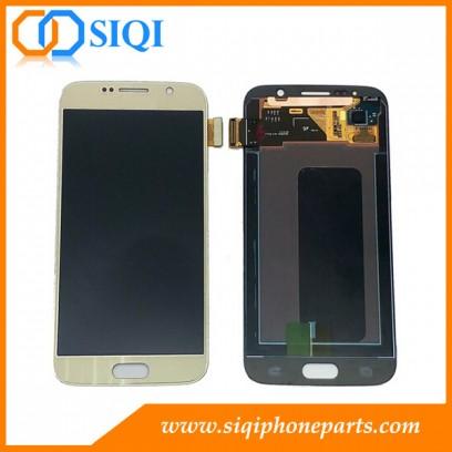 Para la pantalla de Samsung S6, el reemplazo LCD Galaxy S6, pantalla Samsung China, Samsung al por mayor LCD, Oro pantalla Samsung
