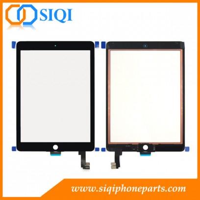 le remplacement de l'air de l'ipad 2 numériseur, pour l'ipad 2 de l'air numériseur noir, écran tactile pour l'ipad 2 de l'air, l'écran numériseur pour l'air ipad, numériseur pour iPad air 2