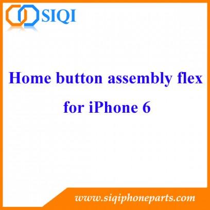 Apple iPhone 6 Accueil Assemblée Button avec Flex Cable, bouton de la maison ensemble, bouton d'accueil de remplacement