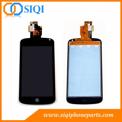Google Nexus 4用LCDスクリーン、ネクサス4 E960用画面、LGネクサス4用LCDディスプレイ、ネクサス4画面用修理部品、Google E960用LCD