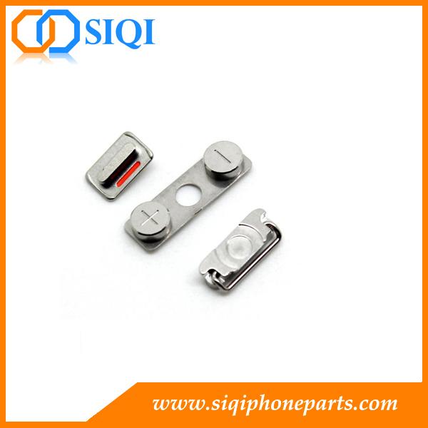 للأزرار الجانبية لـ 4s لـ iPhone ، والمفتاح الصامت لـ iPhone 4s ، وعلى زر التشغيل 5s لـ iphone ، والأزرار الجانبية لـ iPhone 4 ، والمفاتيح الجانبية لـ iphone