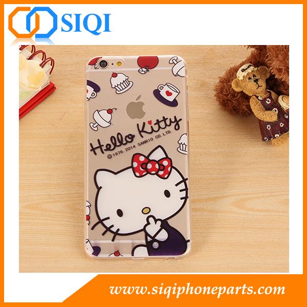 Wholesale TPU case, cellphone case, TPU case Hello kitty, TPU case for iPhone, China TPU case